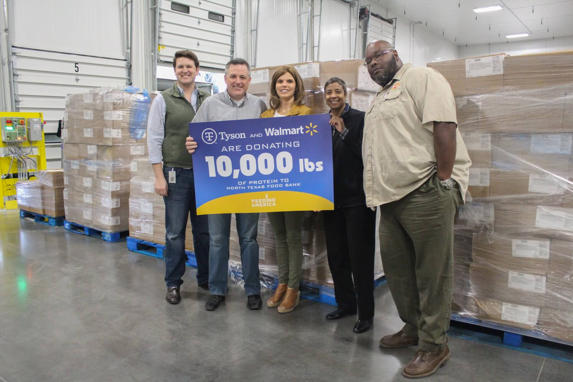 Tyson Foods And Walmart Donate
