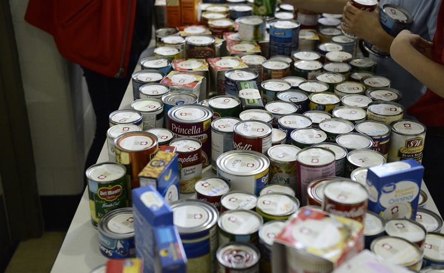 FAIRLAWN, OH - MAY 24:  Feeding America and Akron-Canton Regional Food Bank Host Hungry To Help Lesson Plan For Students At Ohio Elementary School on May 24, 2017 in Fairlawn, Ohio.  (Photo by Duane Prokop/Getty Images for Feeding America)