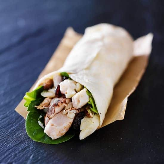 Chicken And Cranberry Salad Wraps