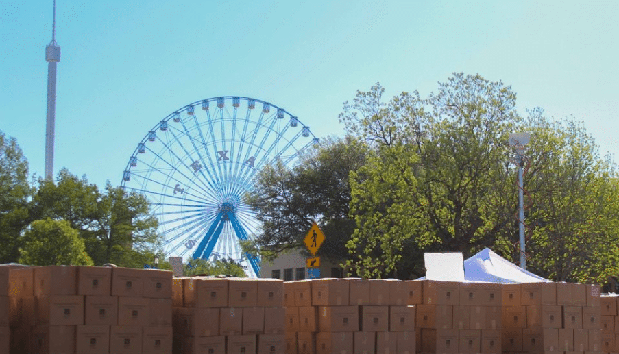 Ferris Wheel And Boxes Not On Site Yet