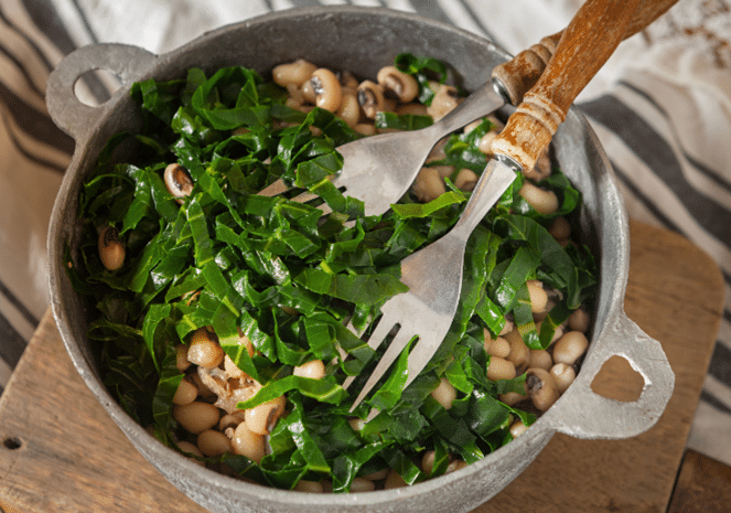 Collard Greens With Beans
