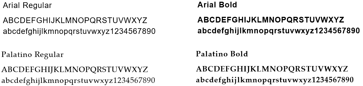 Secondary Fonts