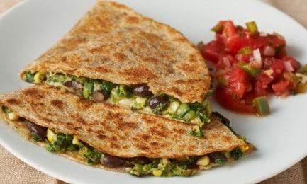 Black Bean And Vegetable Quesadillas Photo