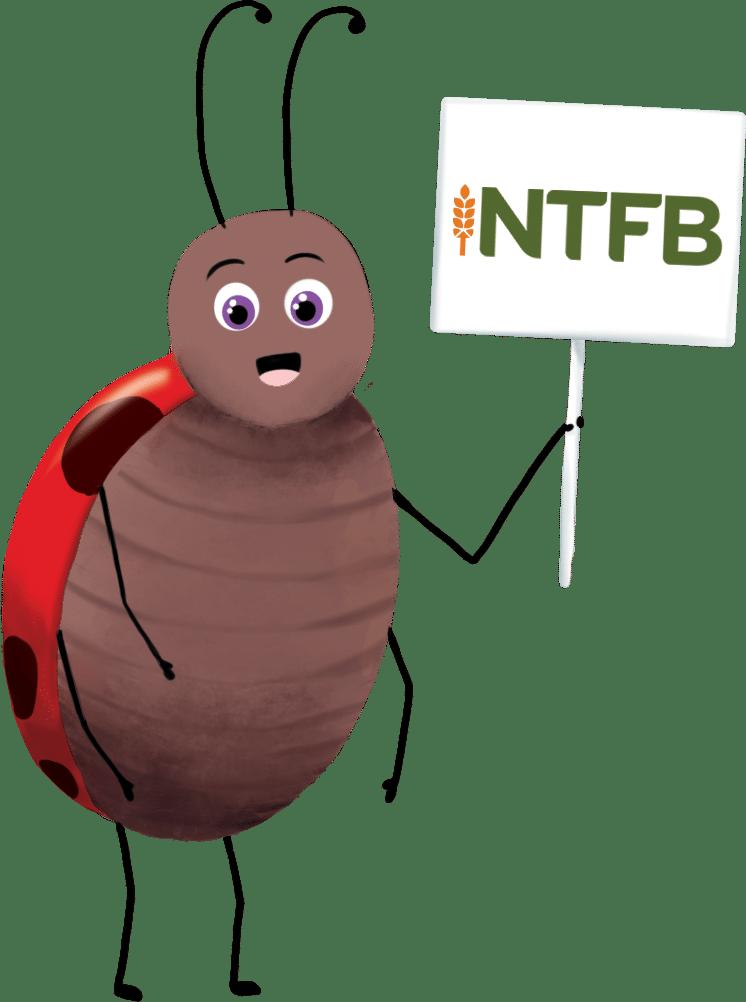 Ladybug Holding Sign