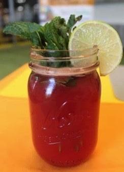 Watermelon Juice in a jar