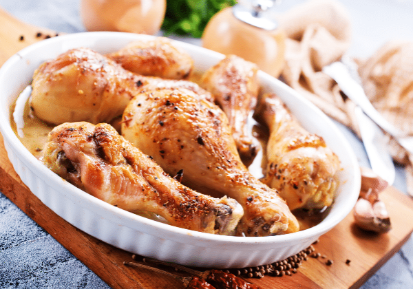 Baked Chicken Drumsticks With Garlic And Herbs
