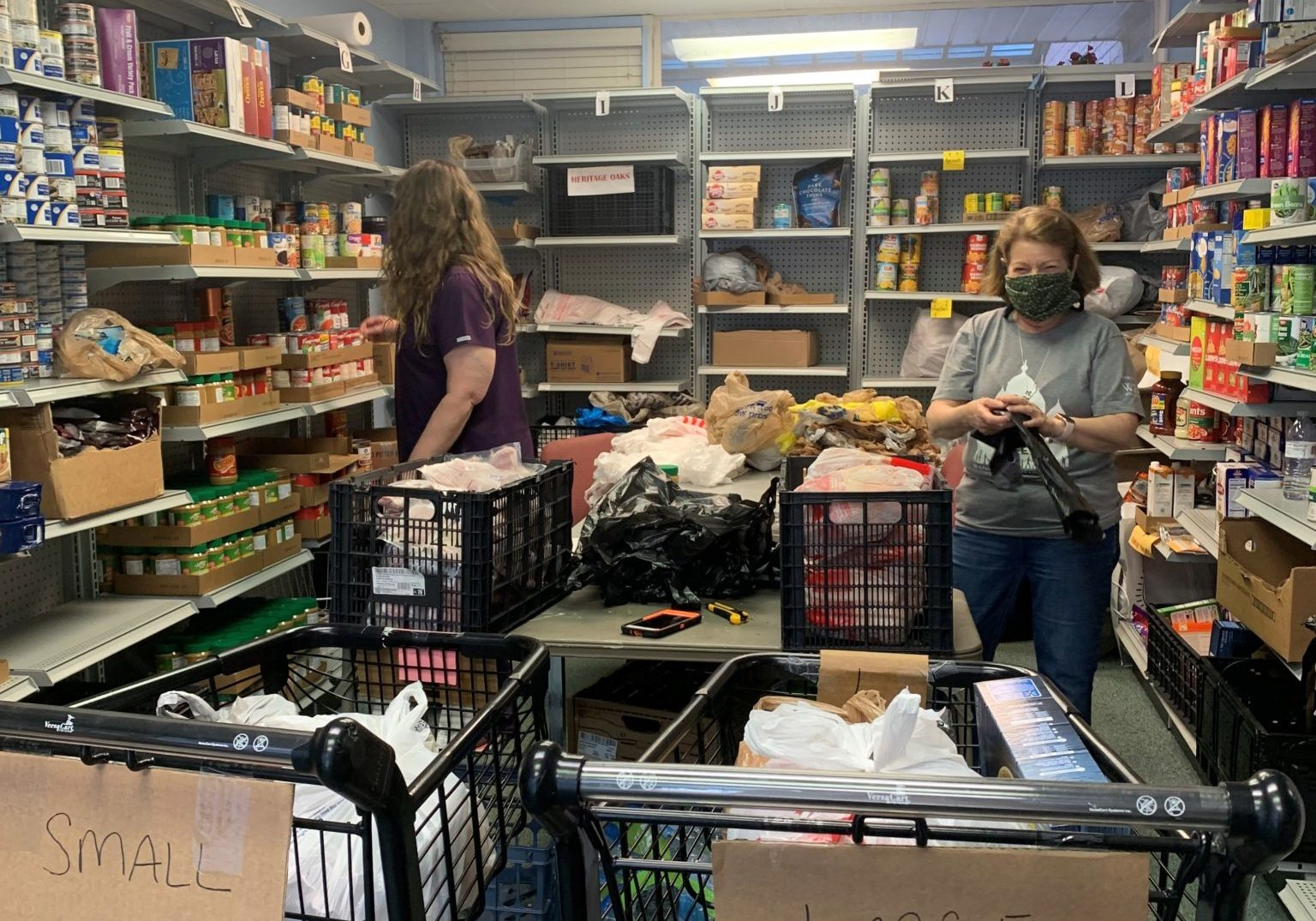 First Refuge Food Pantry Prep